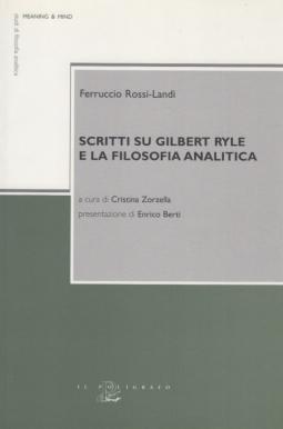 Scritti su Gilbert Ryle e la filosofia analitica