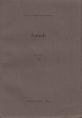 Annali Anno Primo 1958