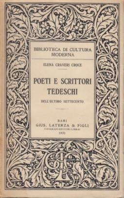 Poeti e scrittori tedeschi dell'ultimo settecento