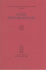 Studi Petrarcheschi. Nuova serie XVIII (2005)